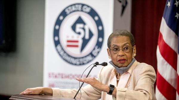 Delegate Eleanor Holmes Norton, D-D.C., speaks at a news conference on District of Columbia statehood efforts on June 16.