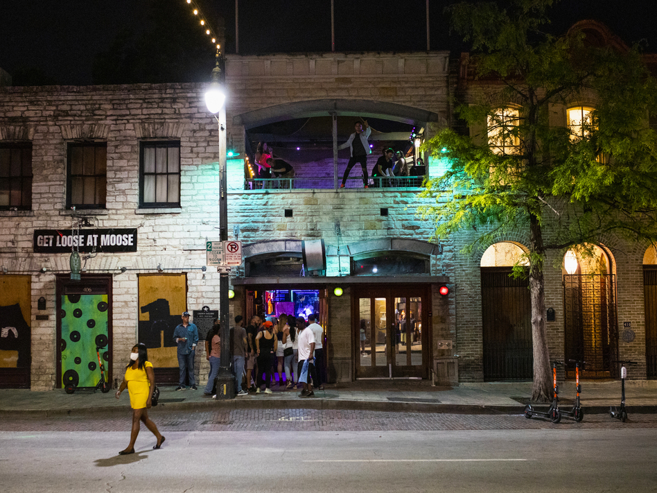 Texas bars such as this one in downtown Austin were allowed to reopen last month. Now the governor is ordering that they close to contain the spread of the coronavirus. (Alex Scott/Bloomberg via Getty Images)