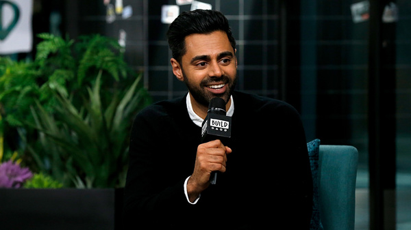 Hasan Minhaj discusses his show Patriot Act at Build Studio on Dec. 2, 2019. Minhaj talked with NPR about talking with Keith Ellison, who is prosecuting former police in the George Floyd case.