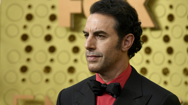 Sacha Baron Cohen, pictured at the Emmy Awards in 2019, is suspected of being behind a prank on a far-right group.