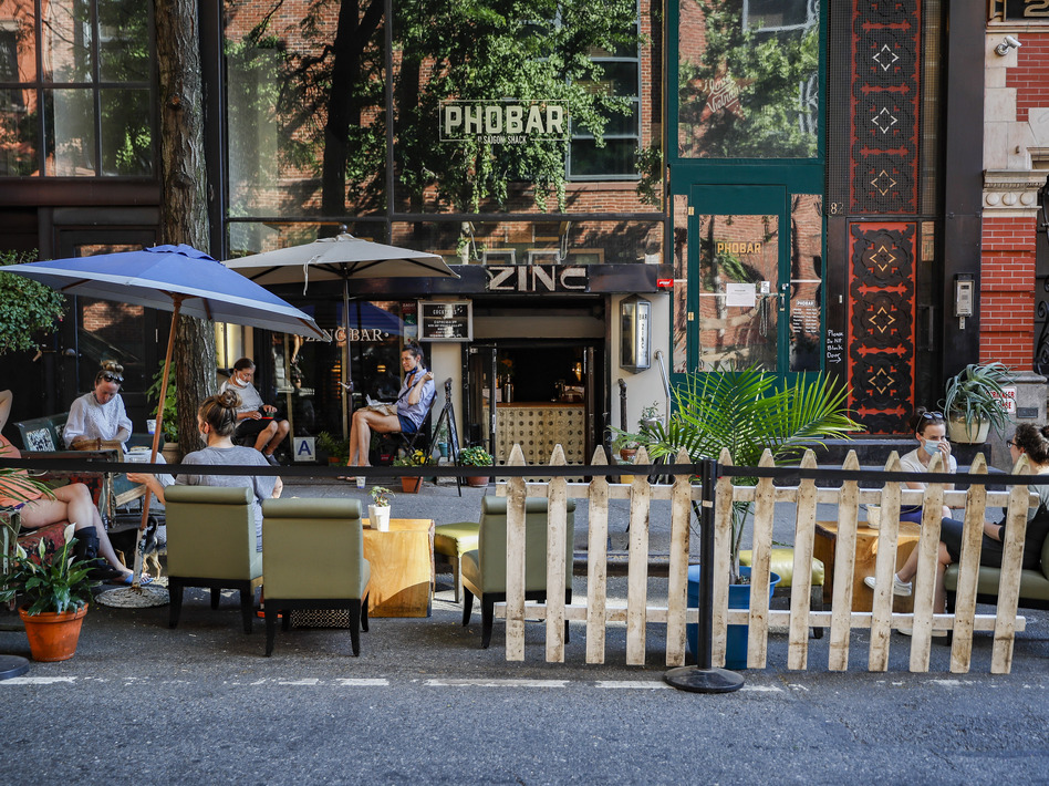 Across the country, restaurants can operate with various restrictions, like outdoor-only seating and capacity limits. New York City began Phase 2 on June 22, allowing outdoor dining to reopen. (John Minchillo/AP)
