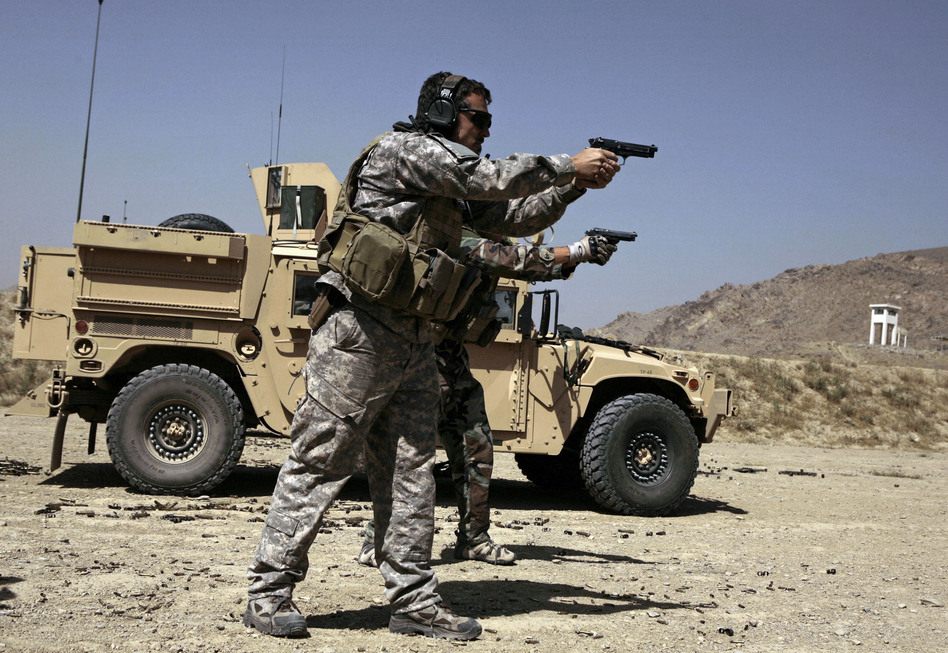 U.S. Army Special Forces soldiers trained in Afghanistan in 2009. Members of Congress want answers about reported Russian bounties paid to target American troops. (Maya Alleruzzo/AP)