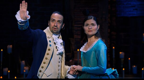 Lin-Manuel Miranda and Phillipa Soo played Alexander and Eliza Hamilton in the original Broadway production of Hamilton. A film production of the show, taped in 2016, debuts on Disney+ July 3.