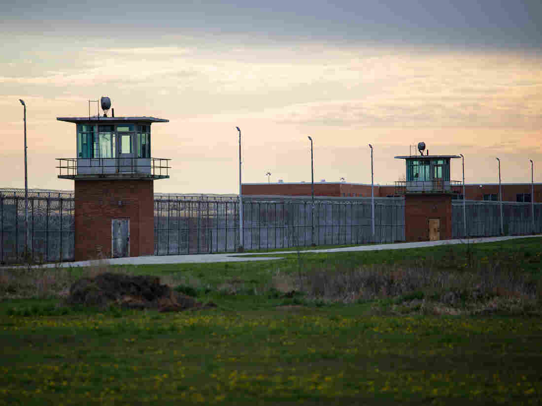 Guard towers look over the prison courtyard at Marion Correctional Institution on April 27, 2020. (Photo by MEGAN JELINGER/AFP via Getty Images)