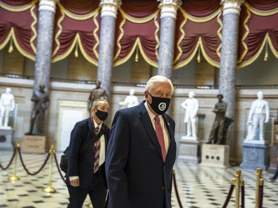 House Majority Leader Rep. Steny Hoyer walks through Statuary Hall at the U.S. Capitol. (Tasos Katopodis/Getty Images)