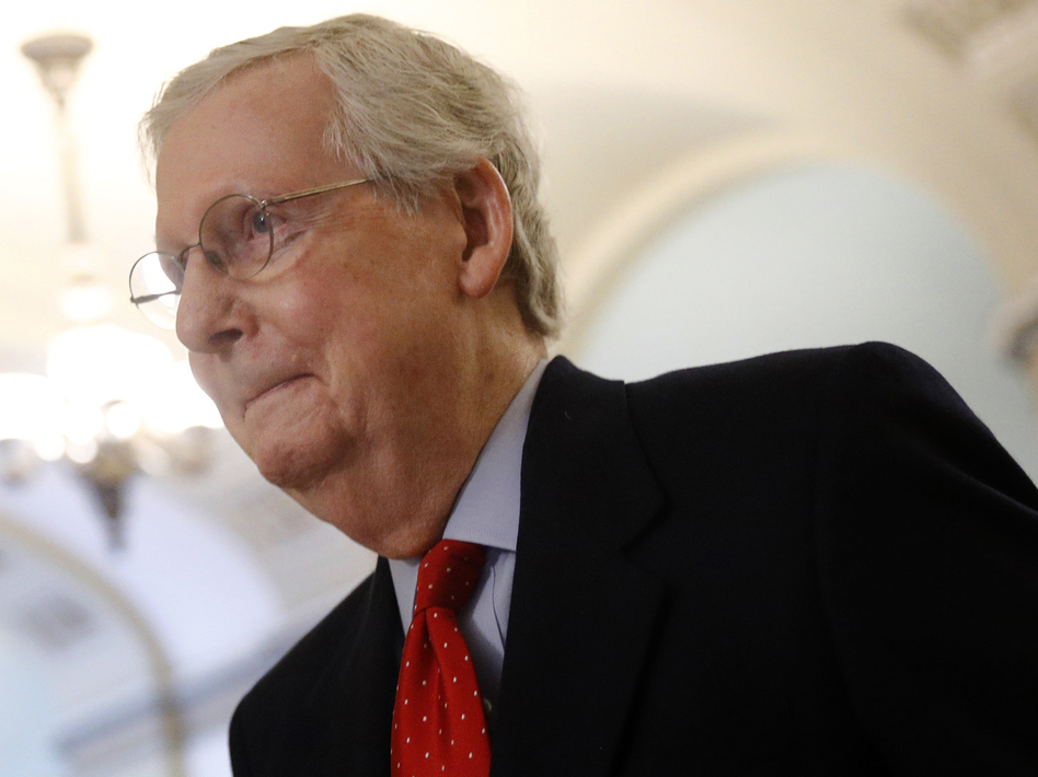 Senate Majority Leader Mitch McConnell, R-Ky., and the GOP majority have confirmed 200 judicial nominees by President Trump. It's a record that will affect U.S. law for decades. (Patrick Semansky/AP)
