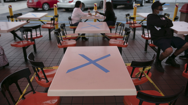 Tables are marked with X