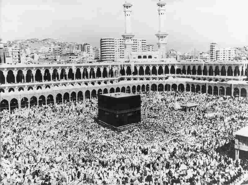 The Kaaba in the centre of the Masjid al-Haram in Mecca, Saudi Arabia, 1979. Every year, millions of Muslims complete a Hajj, or pilgrimage, to this sacred spot.