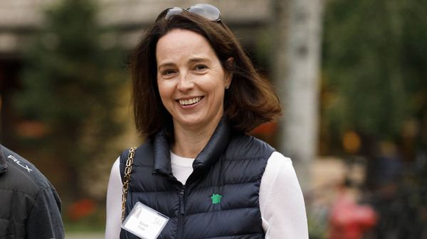 Sarah Friar, chief executive officer of Nextdoor, in July 2019. In an interview with NPR, Friar outlined steps the popular neighborhood app is planning to take to address reports of racial profiling and censorship on the platform.