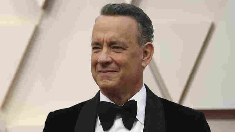 Tom Hanks arrives at the Oscars on Feb. 9, 2020, at the Dolby Theatre in Los Angeles.