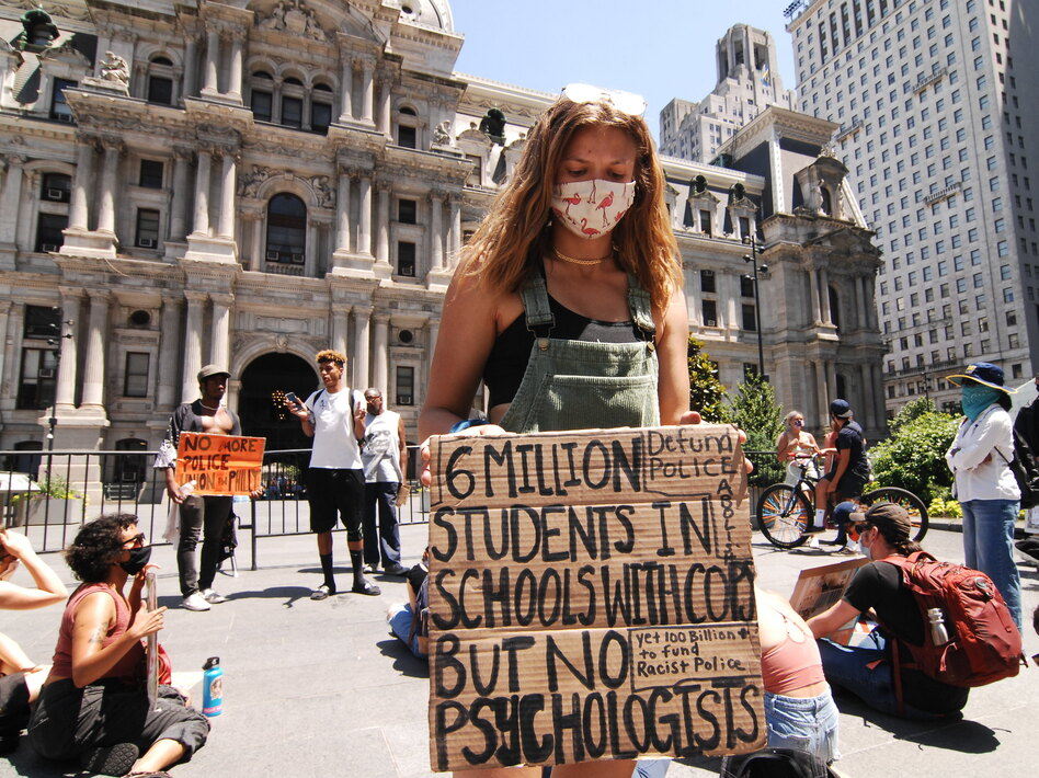 Recent protests in Philadelphia and across the country have drawn young people. But for most of the pandemic, youth have been quarantined and away from their social circles, which could make depression and other mental illness worse. (Cory Clark/NurPhoto via Getty Images)