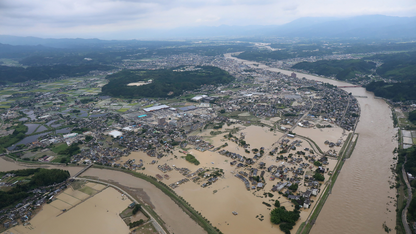 Rains Pound Japan Causing Record Flooding – NPR