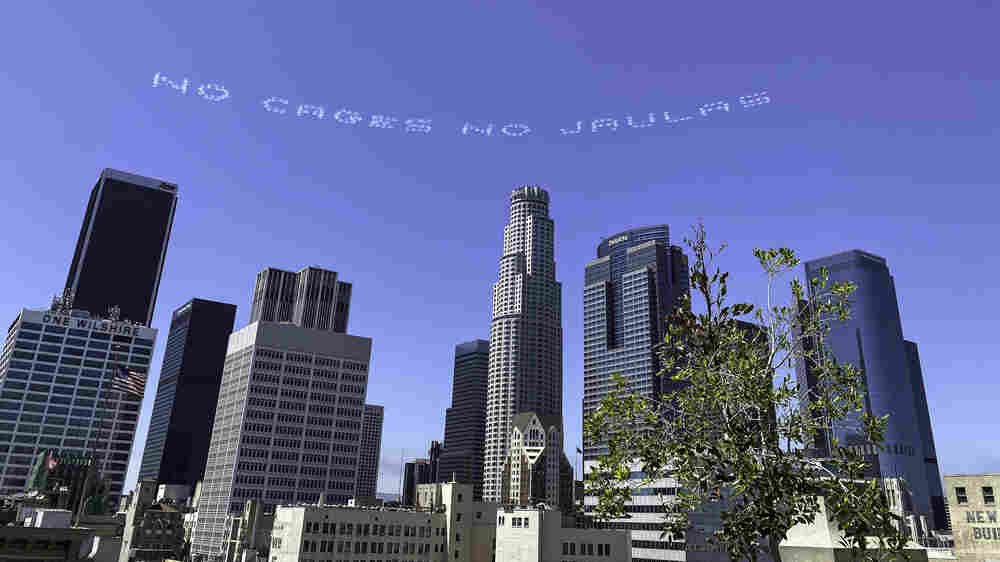 With Fleets Of Planes, Artists Take To Skies Nationwide To Protest Mass Detention