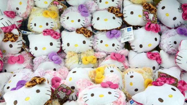 A display at Hello Kitty