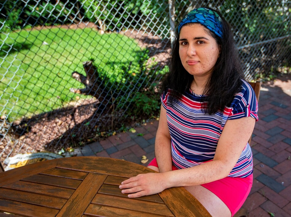 Simge Topaloğlu, a Turkish citizen pursuing her doctorate at Harvard University, was caught off-guard by a new international student visa regulation put forward by U.S. Immigration and Customs Enforcement earlier this week. (Jesse Costa/WBUR)