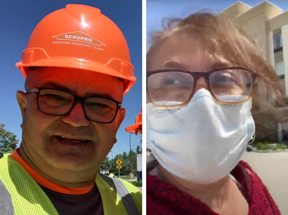Armando Negron and Bellaliz Gonzalez were recovery workers in Midland, Mich., after two dam collapses flooded the area. (Armando Negron and Bellaliz Gonzalez)
