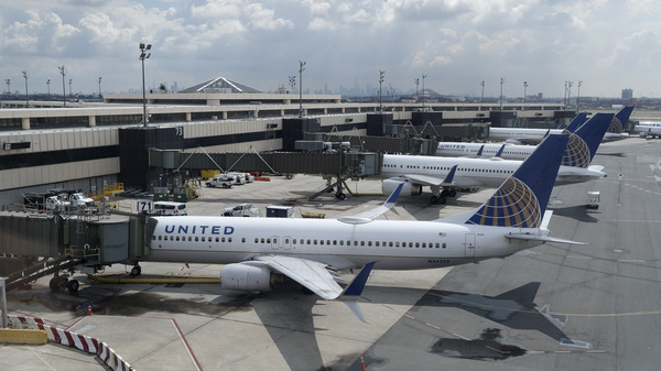 United Airlines planes at Newark Liberty International Airport in Newark, N.J. Company executives call the COVID-19 pandemic the worst crisis in the airline