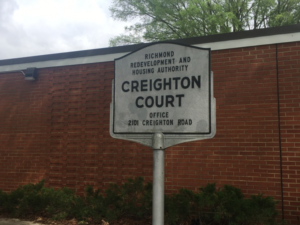 Creighton Court, a public housing complex in Richmond, is among the neighborhoods targeted for distribution of masks, hand sanitizer and leaflets with information about staying healthy during the coronavirus pandemic.