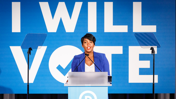 Atlanta Mayor Keisha Lance Bottoms addresses a Democratic National Committee event in June 2019 in Atlanta. The mayor is considered a contender for Joe Biden