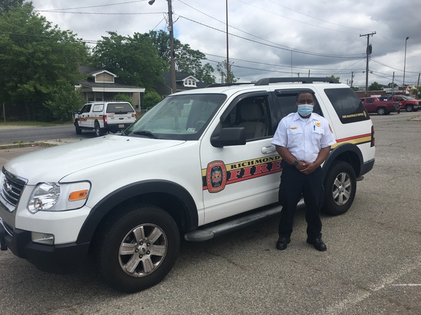 Lt. Travis Stokes, a firefighter in Richmond, Va., is helping to lead an effort to distribute protective equipment to residents of low-income and minority neighborhoods.