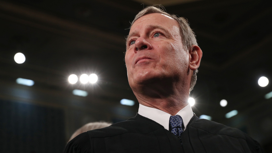 Chief Justice John Roberts, here at the State of the Union address in February, has concluded a momentous term with the Supreme Court. (Leah Millis/Pool/Getty Images)