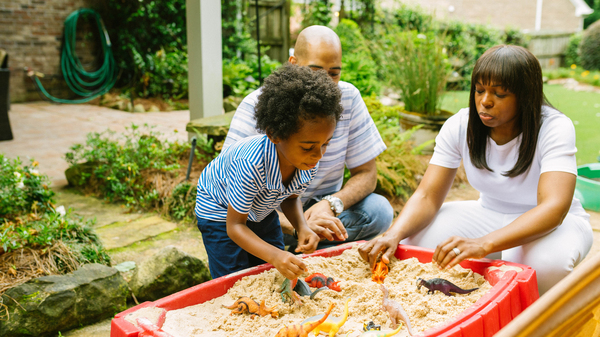 Spending quality time with kids and listening deeply to them is one way to help them tame anxiety. Here Mariano Noesi and Maryam Jernigan-Noesi play with their 4-year-old son Carter.  Jernigan-Noesi is a child psychologist.