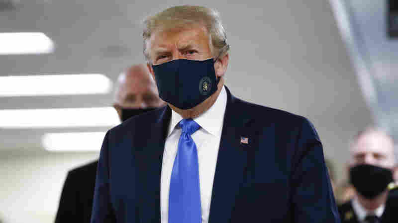 Trump Wears Mask In Public For First Time During Walter Reed Visit