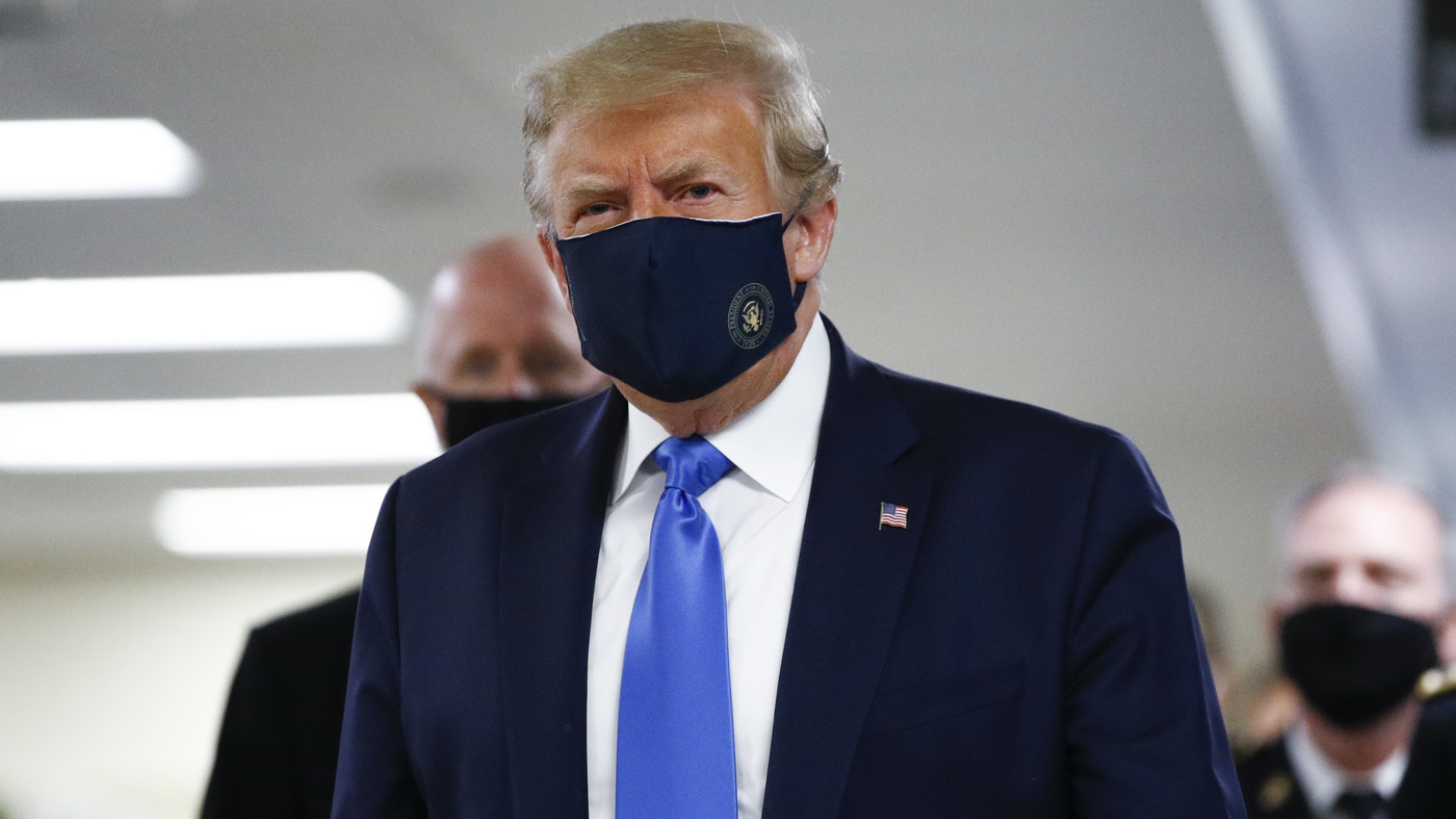 Trump Wears Mask In Public For First Time During Walter Reed Visit - NPR