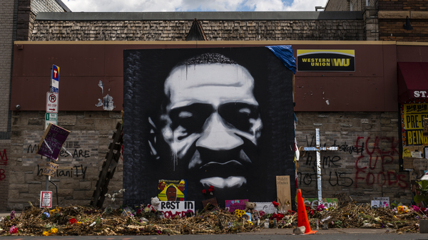 "Terry Willis finished his ""march for change, justice and equality"" on Sunday, at the intersection of 38th Street and Chicago Avenue, where George Floyd was killed by Minneapolis police on May 25."