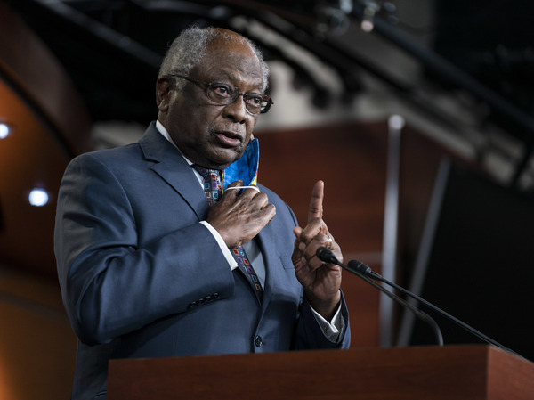 House Majority Whip James Clyburn, D-S.C., speaks during a news conference in Washington, D.C., on May 27, 2020. He heads the Select Subcommittee on the Coronavirus Crisis.