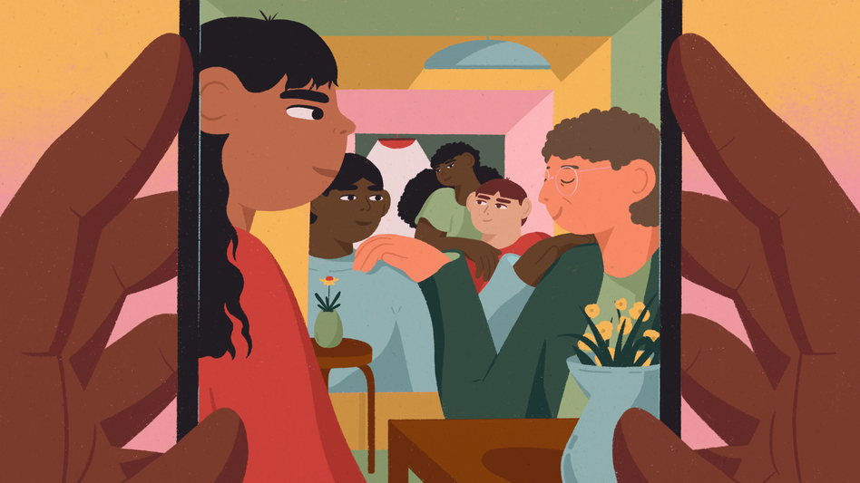 Though the pandemic has left us all less able to socialize in person with our close friends and community, we're still finding ways to use screens and other methods to connect and maintain relationships, research suggests. (Janice Chang for NPR)