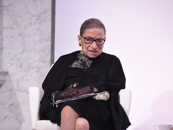 Supreme Court Justice Ruth Bader Ginsburg at an awards ceremony in February in Washington, D.C.