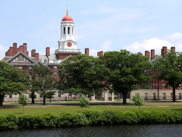 Harvard University, shown here, and the Massachusetts Institute of Technology sued the Trump administration over a rule change that would have barred international college students from taking fully online course loads in the United States. In court on Tuesday, a judge announced that the government would rescind the directive.
