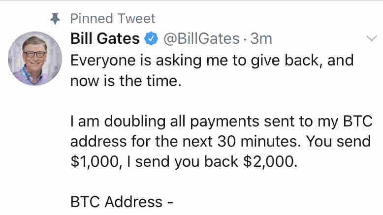 Bill Gates hacked tweet