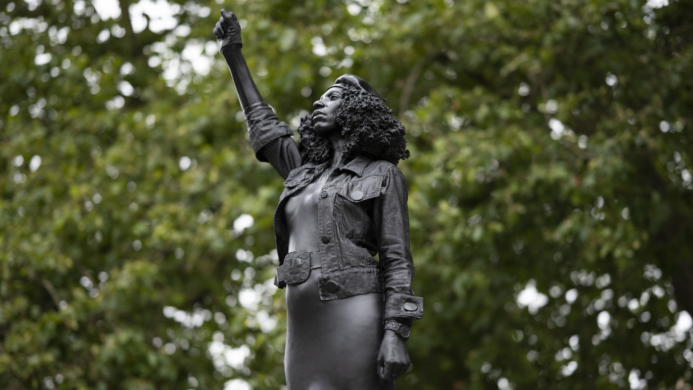 Black Lives Matter Monument Replaces Statue Of Slave Trader In England – NPR