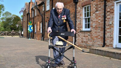 100-Year-Old Tom Moore, Who Raised Millions By Walking Laps, Has Been Knighted