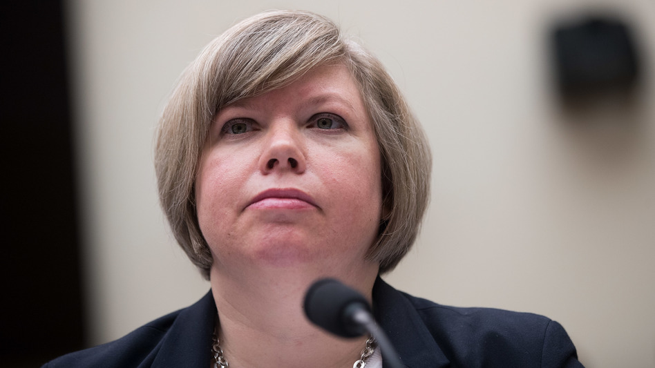 A U.S. Government Accountability Office report finds congressionally approved emergency humanitarian funds, meant to benefit asylum-seekers apprehended along the border with Mexico, instead was spent on things from dirt bikes to security camera systems. GAO Homeland Security and Justice Director Rebecca Gambler, shown here in 2017, oversaw the agency's investigation. (Drew Angerer/Getty Images)