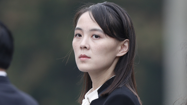 Kim Yo Jong, sister of North Korean leader Kim Jong Un, attends a wreath-laying ceremony at Ho Chi Minh Mausoleum in Hanoi, Vietnam, on March 2, 2019.