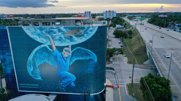 A billboard in Miami
