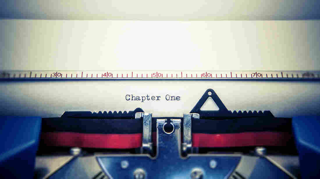 Chapter one typed on paper on typewriter.