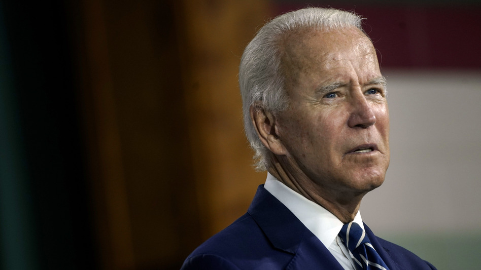 Presumptive Democratic presidential nominee Joe Biden, pictured on Wednesday, has raised questions about whether a senator leading an investigation into him is at the receiving end of a foreign influence operation. (Drew Angerer/Getty Images)