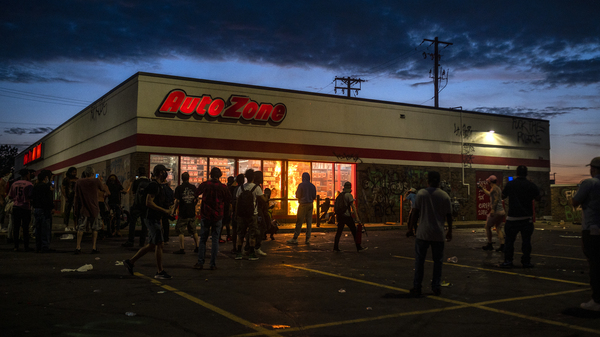 An Auto Zone store was among the Minneapolis buildings looted and damaged on May 27 during the protests against police violence. Police investigators reportedly have a suspect in the vandalism that preceded the burning of the store.