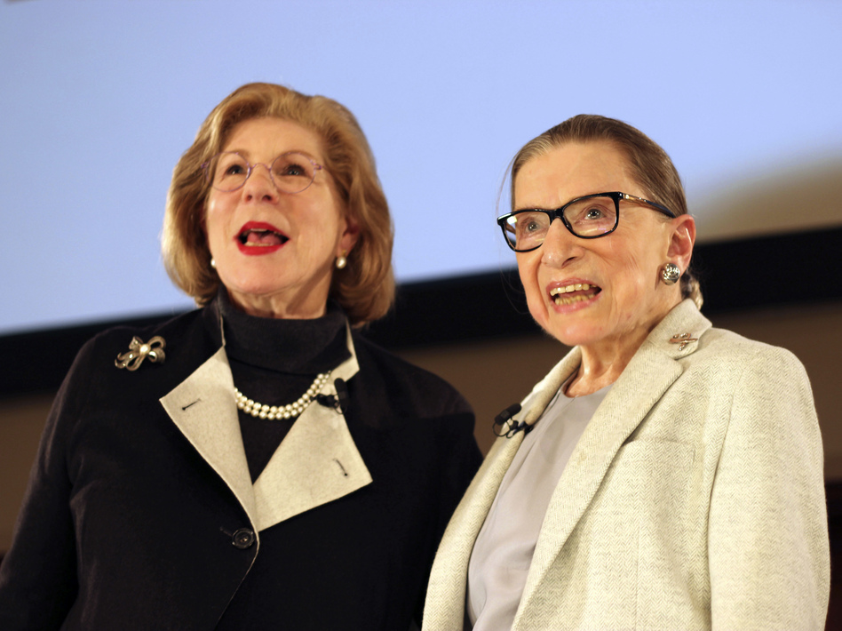 Over a 50-year friendship, NPR's Nina Totenberg and Supreme Court Justice Ruth Bader Ginsburg saw each other through illness and loss, with laughter and many family dinners. (Rebecca Gibian/AP)