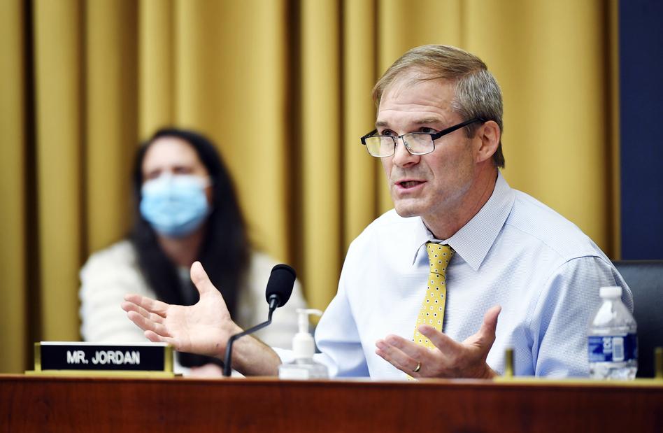 Rep. Jim Jordan, R-Ohio, speaks during a House Judiciary subcommittee on antitrust on Capitol Hill. (Mandel Ngan/AP)