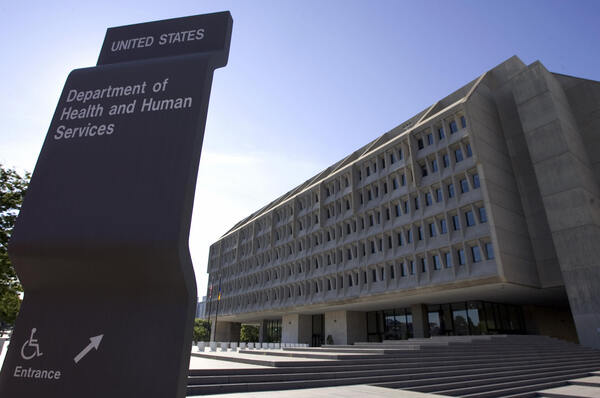 The U.S. Department of Health and Human Services building is shown in Washington, D.C. on July 21, 2007.