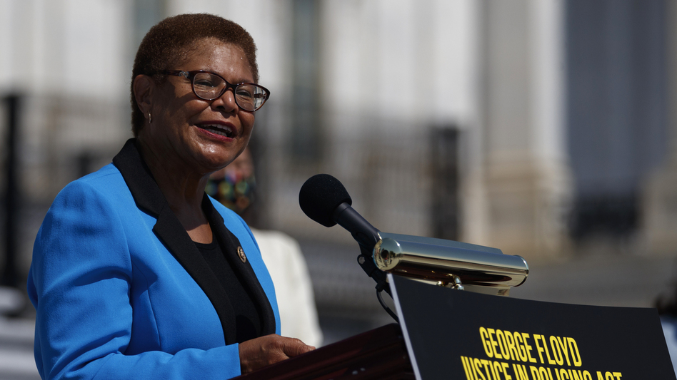 California Rep. Karen Bass was catapulted onto the national stage leading Democrats on police reform. Now she is a contender to be Joe Biden's running mate. (Carolyn Kaster/AP)