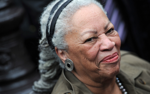 Novelist Toni Morrison, seen at the unveiling ceremony of a memorial bench marking the abolition of slavery in Paris in 2010.
