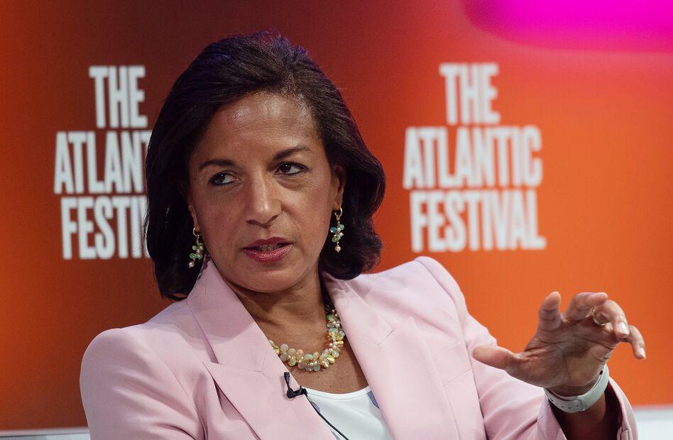 Former national security adviser Susan Rice, seen here at the Atlantic Festival in 2019, is on Joe Biden's vice presidential shortlist. (Nicholas Kamm/AFP via Getty Images)