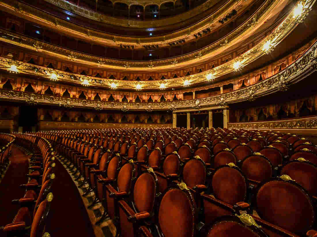 BUENOS AIRES, ARGENTINA - APRIL 23: Seats of Teatro Colon stand empty as events have been cancelled due to COVID-19 pandemic. (Photo by Amilcar Orfali/Getty Images)