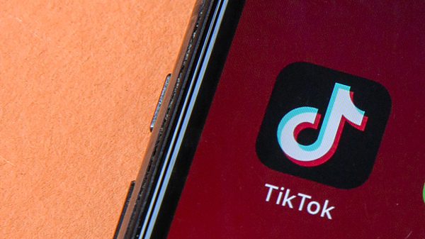 Icon for the smartphone app TikTok, which President Trump on Thursday took aim at through an executive order that prohibits transactions between U.S. citizens and TikTok